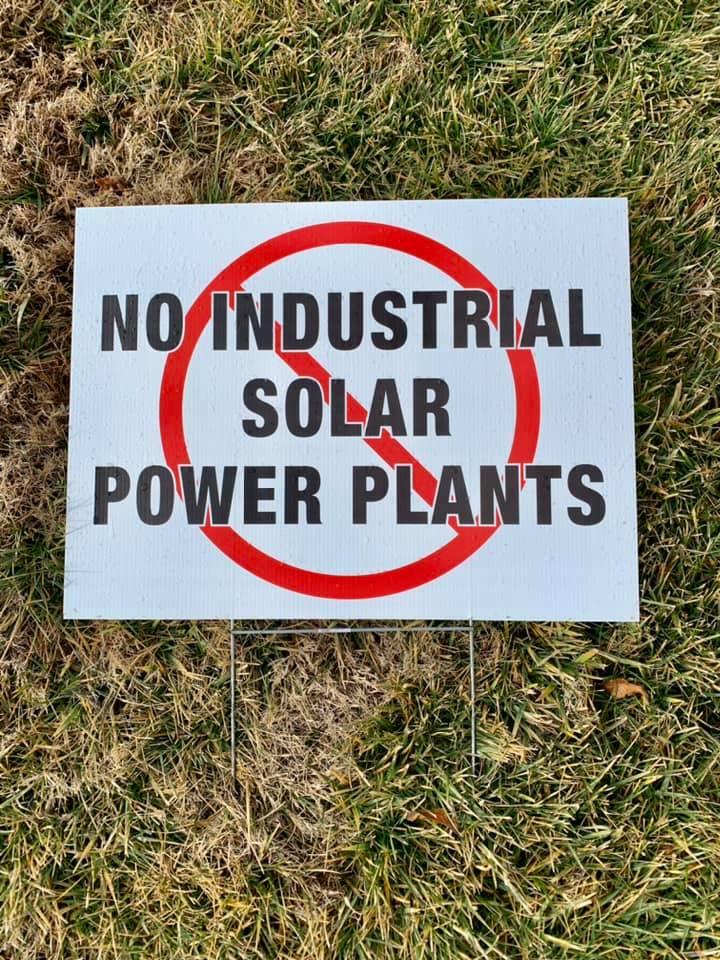 no industrial solar power plants signs